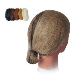 Нейлоновая сетка для волос, невидимая, черная/темно-коричневая/светло-коричневая/бежевая, 100 шт./пакет