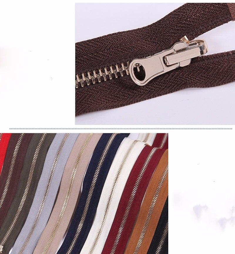 Alipress 5#90 см длинный открытый конец молния светильник золотые зубы металлические молнии для DIY шитья пуховик Куртка