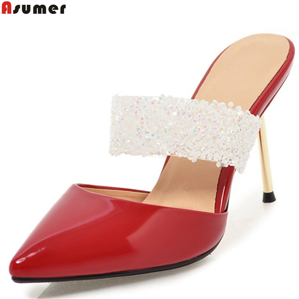 ASUMER big size 33-43 fashion summer ladies shoes pointed toe elegant wedding shoes thin heel pumps women shoes high heels shoes