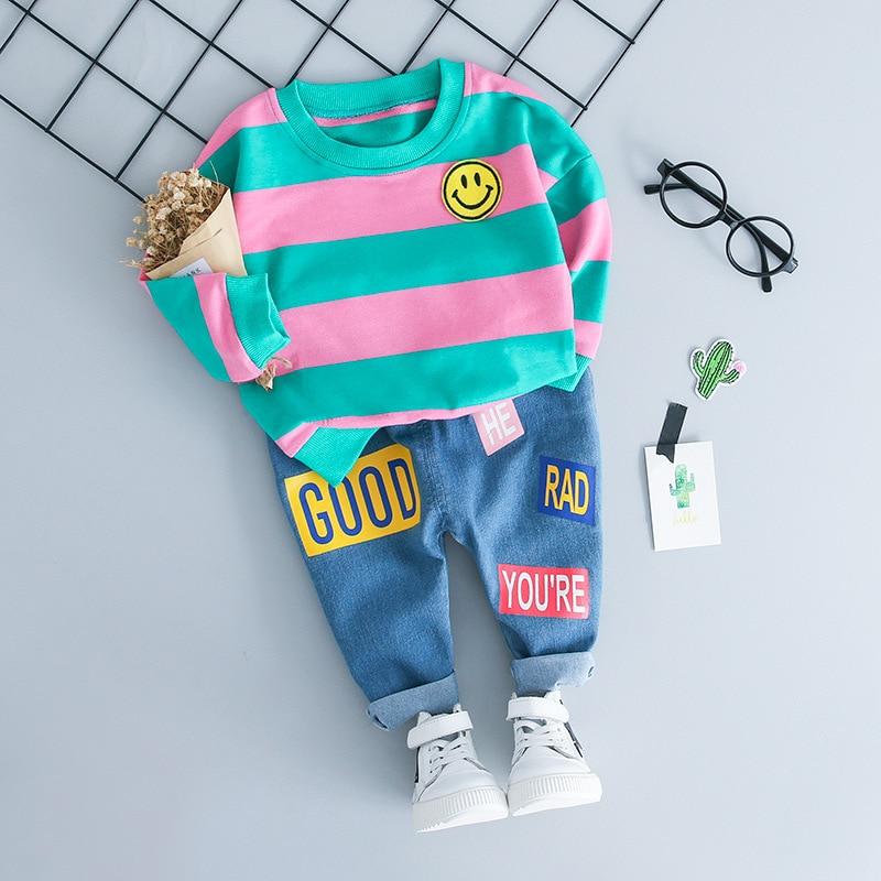 Ropa para niños / niñas, ropa para niños, camiseta a rayas, - Ropa de ninos