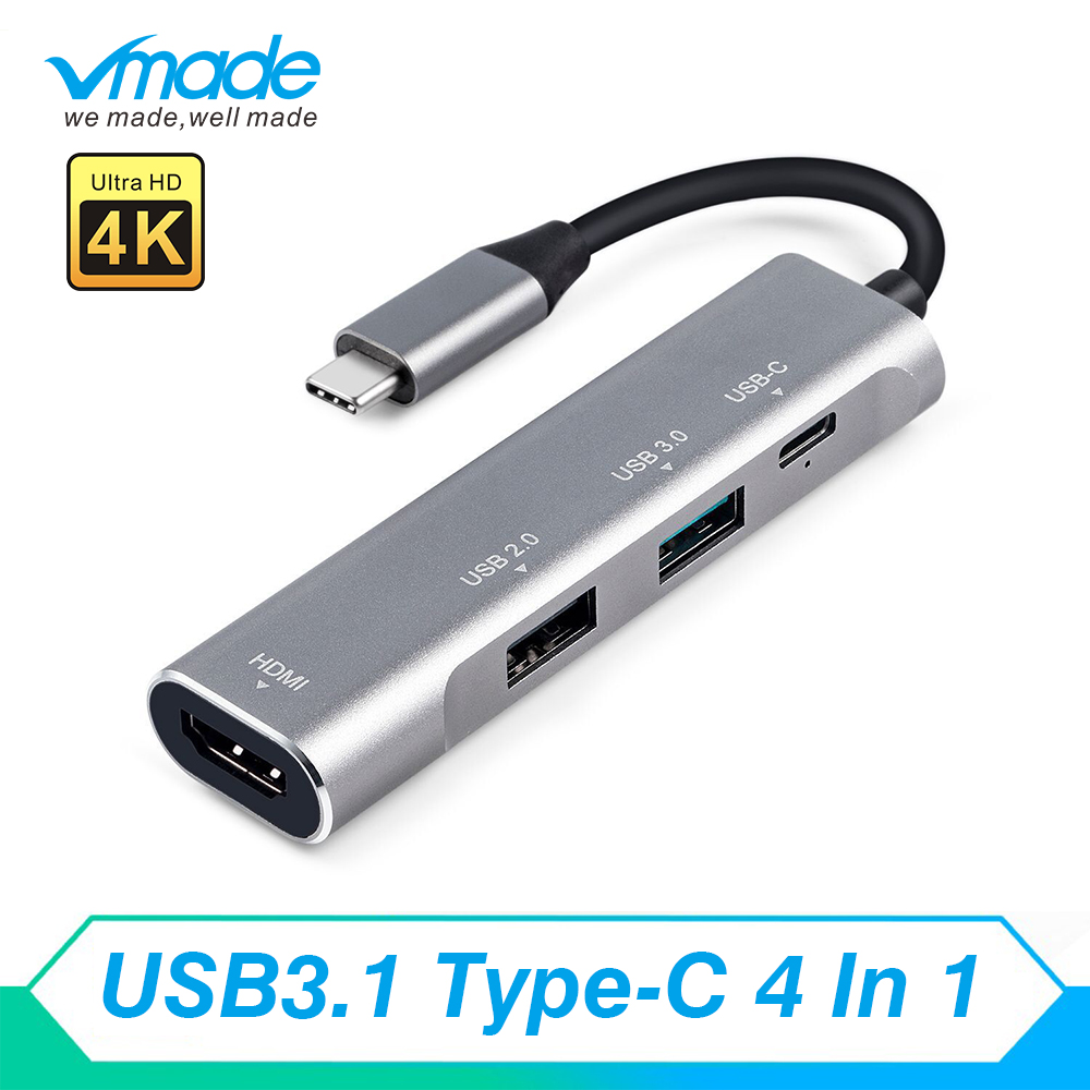 Vmade USB-C 3.1 Type C Connector Support HD 1080P 5Gbps USB HUB <font><b>Cable</b></font> For Apple Macbook Samsung Galaxy S9 Huawei Matebook image