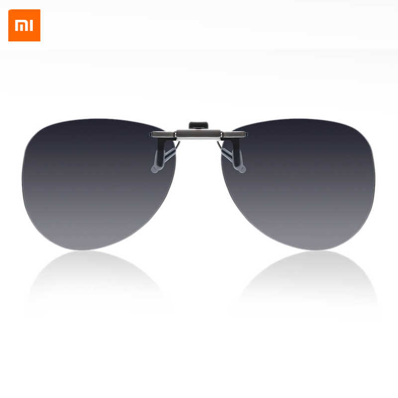 New arrival Xiaomi Mijia TS Pilot clip sunglasses TAC Polarized Glass Anti UVA UVB protecting eyes for Travel myopia