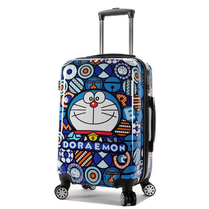 Yeni Doraemon Karikatür Bagaj Erkekler ve Kadınlar Moda Seyahat - Bagaj ve Seyahat Çantaları - Fotoğraf 3