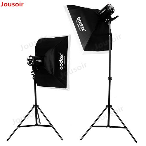 Godox Strobe Soft Box Studio Flash Light Kit 500W Photo Studio Camera Lighting Equipment with Light Stand CD50 A