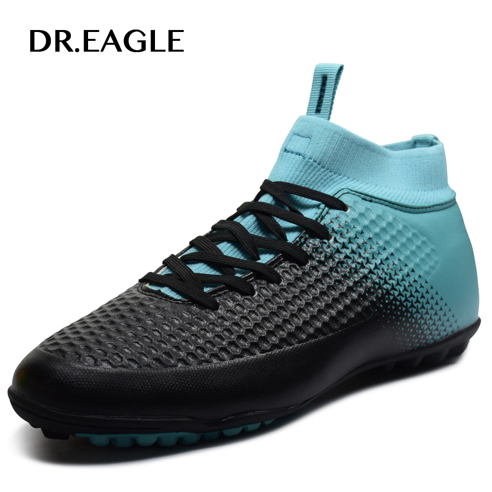 DR.EAGLE Indoor soccer boots High Ankle MAN SHOES SPORTS <font><b>FOOTBALL</b></font> boot futzalki <font><b>football</b></font> sneakers soccer cleats shoes child
