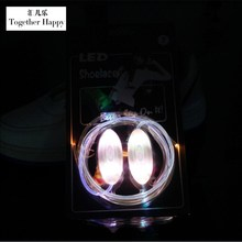 1 Pair Hot Sale Fashion LED Luminous Athletic Shoelace Sneakers Flash Party Glowing Strings Flat Shoes Laces For Boys Girls