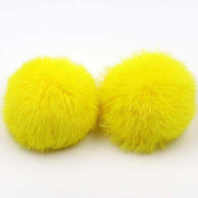 8 см помпон без брелока кролик пушистый брелок Pom лампа Pom женская сумка Porte Cleff Искусственный Кролик волосы мяч шерсть мех брелоки