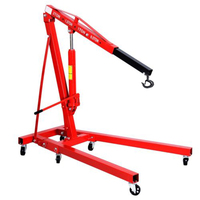 2 TON Red Color 4400 Lb Engine Motor Hoist Cherry Picker Shop Crane Lift USA Crane Tire Repair Tool