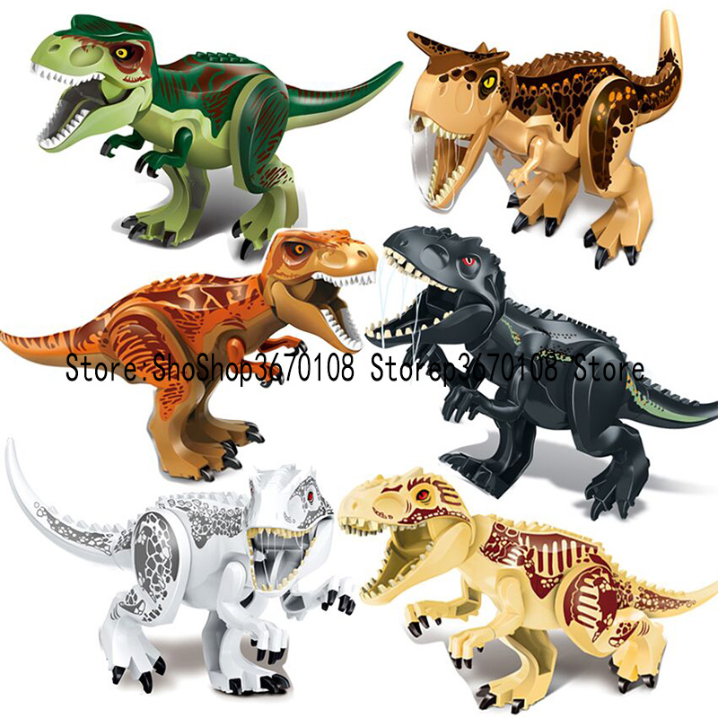Jurassic World 2 Legoing Dinosaur Building Blocks Jurrassic Park 3 Dinosaurs Figures Bricks Toys Compatible Legoings