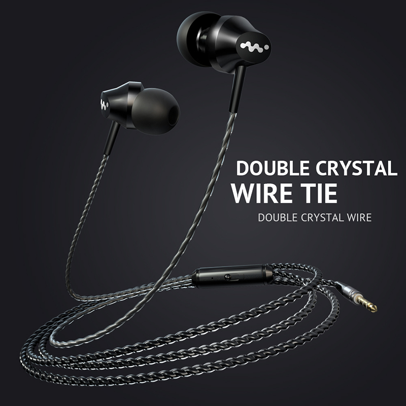 M8 Earphone Heavy Bass In-Ear Earphones Music Headset Microphone 3.5mm High Quality Earbud Earphones For iPhone Samsung xiaomi