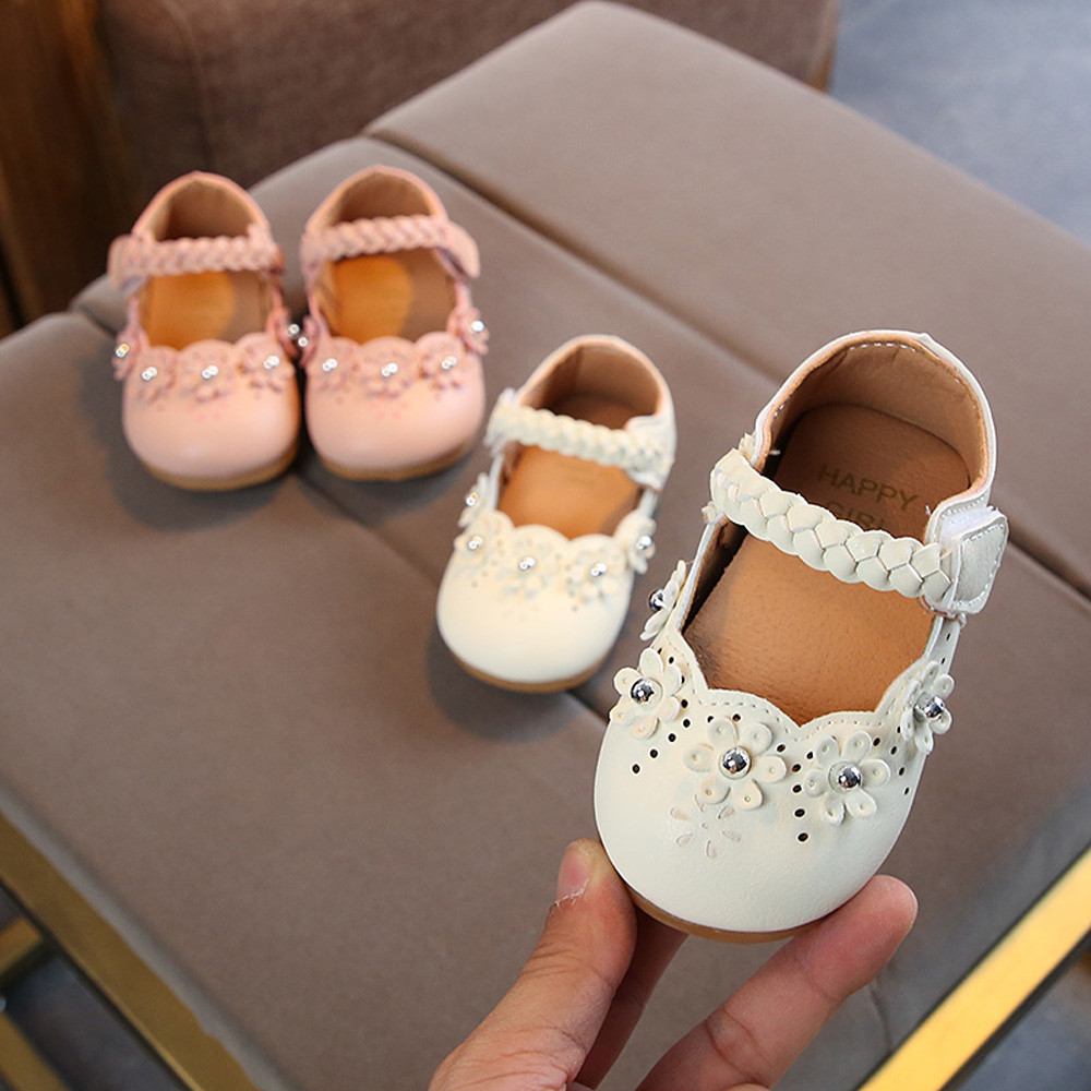 Baby Mary Jane FAPIZI Infant Boy Girl Bow Princess Soft Bottom Shoe Toddler Casual Canvas Shoes