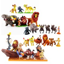Anime Cartoon lion figure toy Mufasa Nala Hyenas Timon Pumbaa Sarab PVC Action Figures Model Classic Toys Kids Gifts