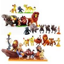 Figura de Anime León de dibujos animados juguete Mufasa Nala Hyenas Timon Pumbaa Sarab PVC modelo de figuras de acción juguetes clásicos niños regalos