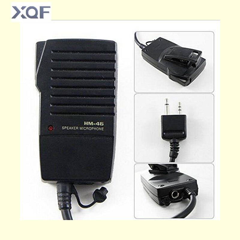 imágenes para Hm-46 micrófono de mano altavoz para icom ic-v8 v82 v85 radio t2h t8a 2at e90 w32a