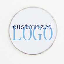 Фотография 100EA blank 25mm ball marker customized logo ball marker with glue coating