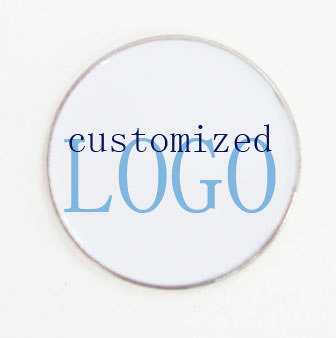 100pcs per lot  25mm ball marker customized logo ball marker with glue coating full color printing golf ball marker-in Golf Training Aids from Sports & Entertainment