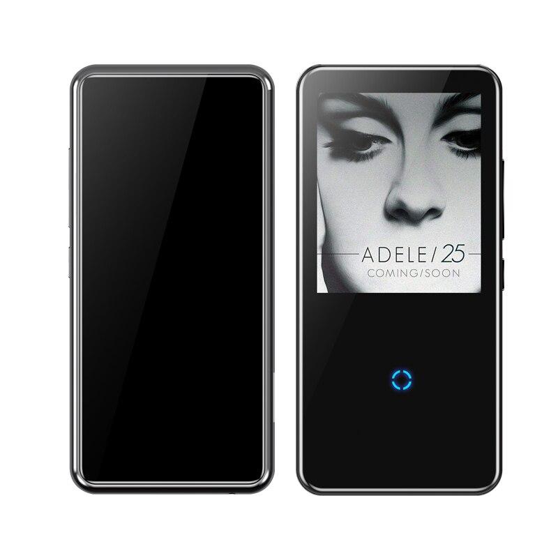 Bluetooth lecteur mp3 2.4 pouces écran tactile intégré haut-parleur avec radio FM/enregistrement Portable mince sans perte son baladeur - 4