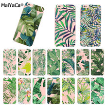 MaiYaCa Plantas Tropicais Cactus Folhas de Bananeira silicon Phone cases capa Para iphone 11 pro 66S 7 8 plus 5S SE X XR XS XS MAX(China)