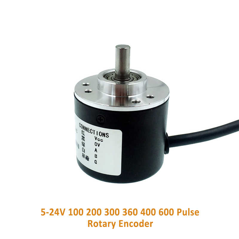 8-24NPN, 400 Incremental Optical Rotary Encoder 100 200 360 500 100 PPR A B 90/° Phase NPN PNP Open Collector Out