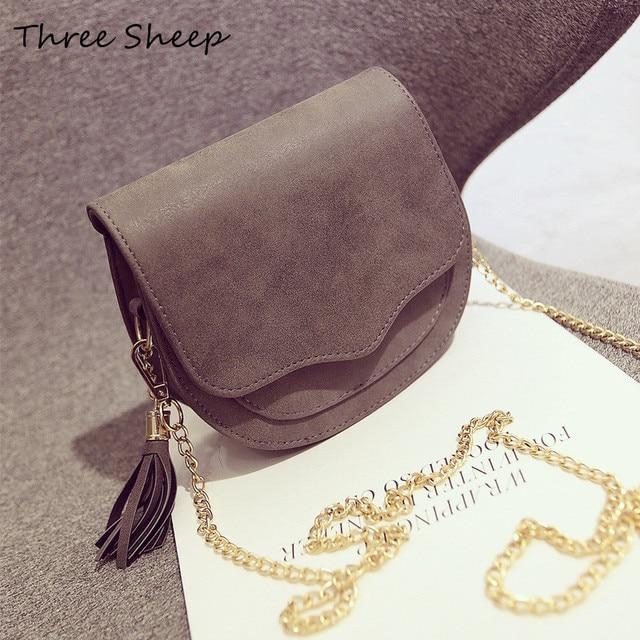 2f597ab3abd Cute Sling Bag Women Tassel Bags Small Crossbody Bags For Women Chain Handbags  Shoulder Messenger Bag Sac Femme