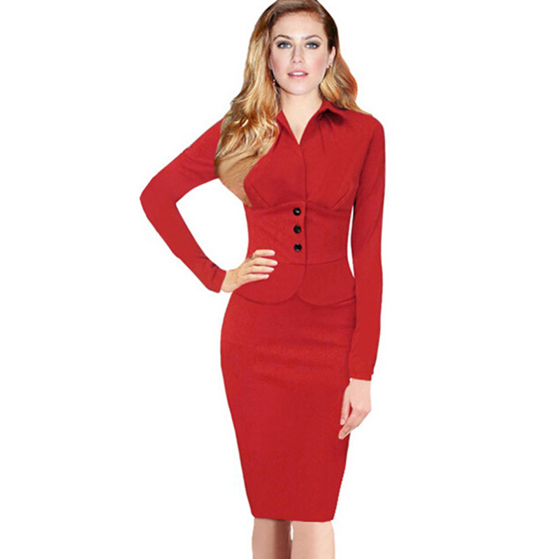 Aliexpress.com : Buy 2015 brand winter dresses red button full ...