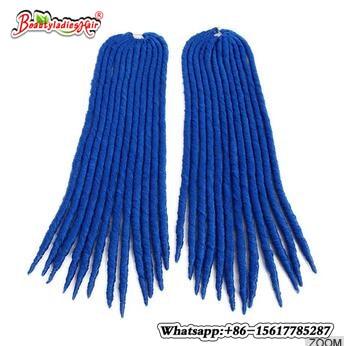 BLUE,bug,613 Eunice hair Faux locs Crochet Braids Hair 14,18 synthetic braiding colored strands of crotchet braids