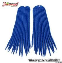 """BLUE, bug, 613 Eunice hår Faux locs Crochet Braids Hair 14,18 """"syntetiskt flätande hårfärgade trådar av hårkrets flätor"""