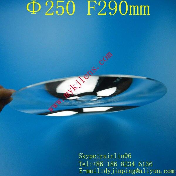 Fresnel lens Diameter 250 focal length290mm stage lighting condenser lens thread,magnify lens,traffic light fresnel lens