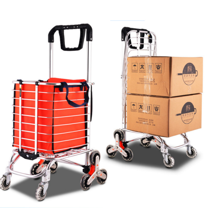 Style : B Hand-Folding Portable Pull Cargo Trailer Luggage Trolley car Purchase cart Pull Truck Zr Household Multi-Purpose Small cart