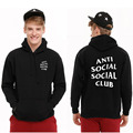 2017 Antisocial social club hooded sweatshirts hoodies 2016 new ASSC thrasher hoodies mens womens S-2XL