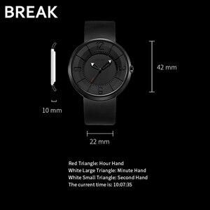Image 4 - BREAK minimalista Reloj de marca de lujo para hombre y mujer, resistente al agua, de cuarzo, informal, militar, deportivo, negro