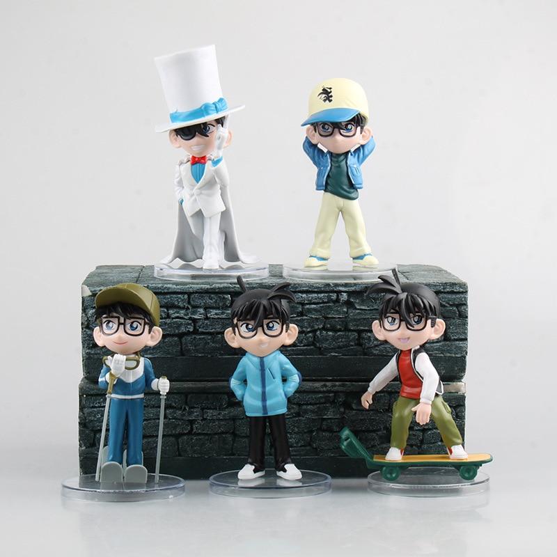 Aanime Detective Conan  5pcs/set PVC Action Figure Collectible Models Toys 11~13cm  KT2436 цена 2016