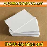 無料ショッピング 100 ピース rfid 125 Khz EM4100/tk4100Chip ブランク ID インクジェットカード印刷エプソン/キヤノンプリンタカードトレイ