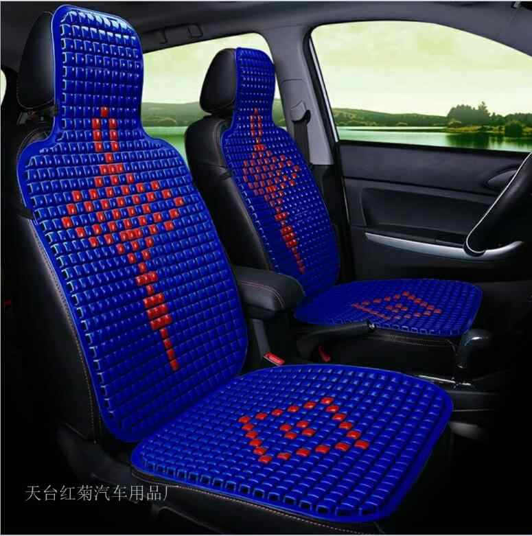 Summer Plastic Breathable Cool Car Chinese knot elements Seat Cushion Auto Minibus Home Chair Cover