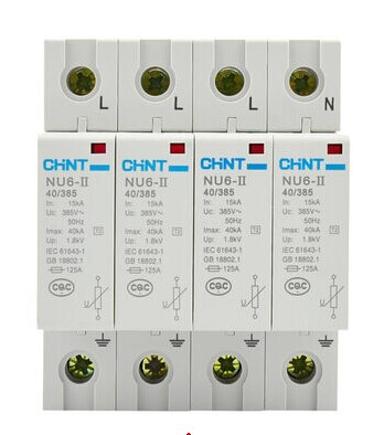 CHINT NU6-II/F 40kA/460V 4P Surge Arrester Protect Electric System Electrical Apparatus Thunder Instantaneous