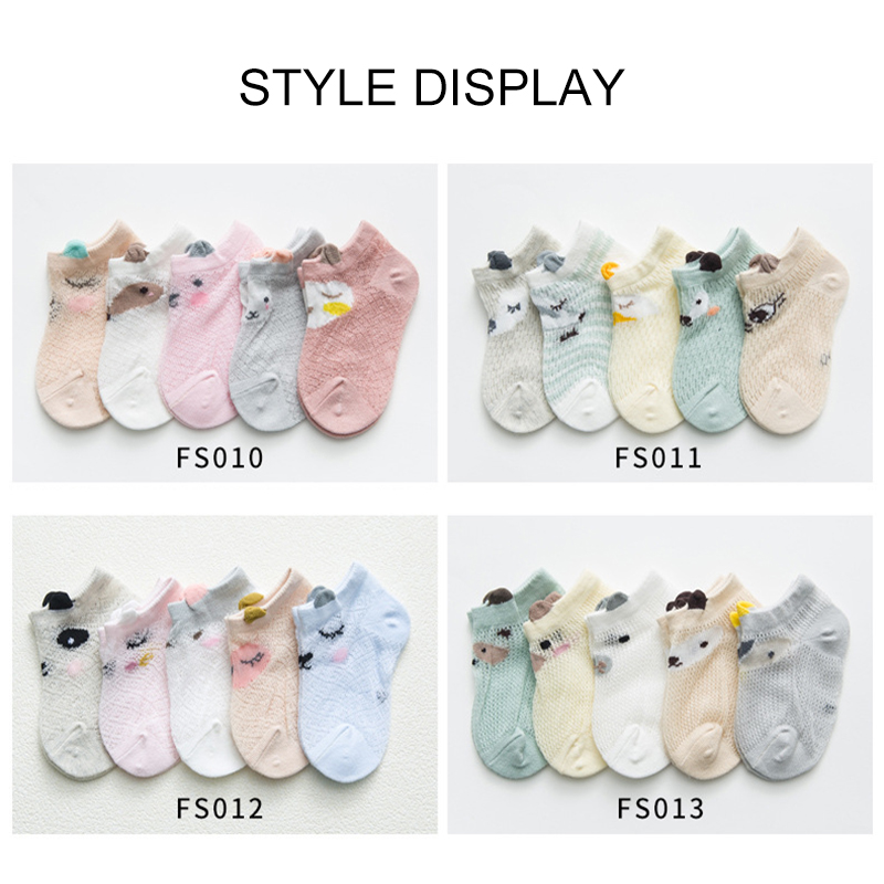 3~12 Y 5Pairs/lot Baby Socks Summer Mesh Thin Baby Socks For Girls Cotton Newborn Boy Toddler Socks For Baby Clothes Accessories