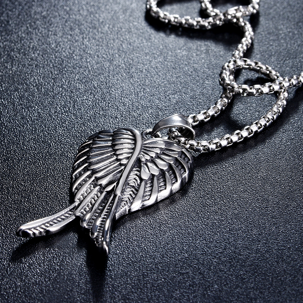 316L Stainless Steel Angel Wings Necklace