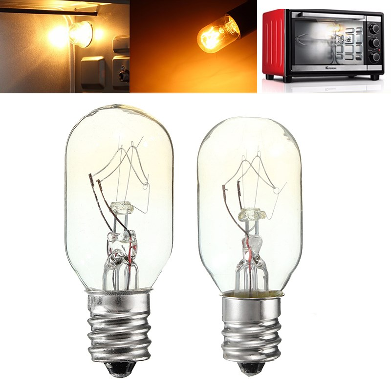 Oven Fridge Lights High Temperature 15W/25W Incandescent Bulb E12 Toaster Refrigerator Filament Bulbs Glass Lamp Lighting 120V