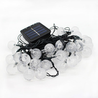 6M 30 LED Crystal Ball Solar Powered String Light Holiday Light Waterproof For Outdoor Gardens Wedding
