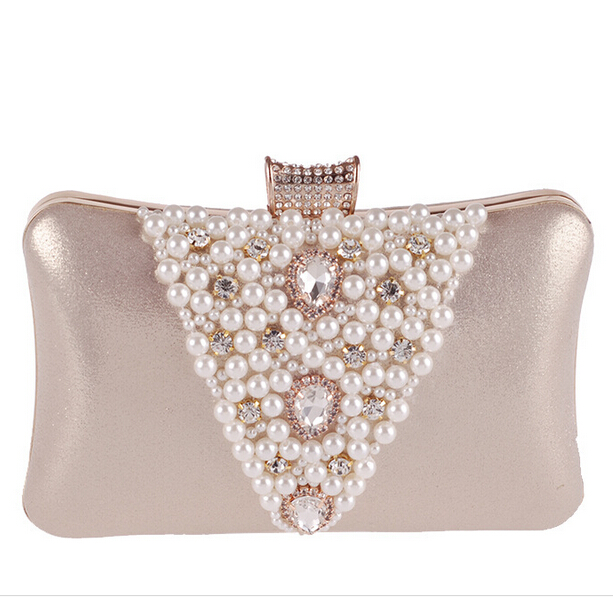 c6ef1e993 Novo Design das Mulheres Diamante Pérola Frisada Evening Bag Festa Bolsa  Checa Diamante Hard Case Clutch Purse Sacos Soulder em Bolsas para noite de  Bolsas ...