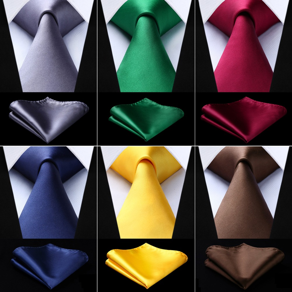 Men Solid Ties Designers Fashion Pure Woven Wedding Party Business 3.4'' 100% Silk Necktie Handkerchief  Gravata Set