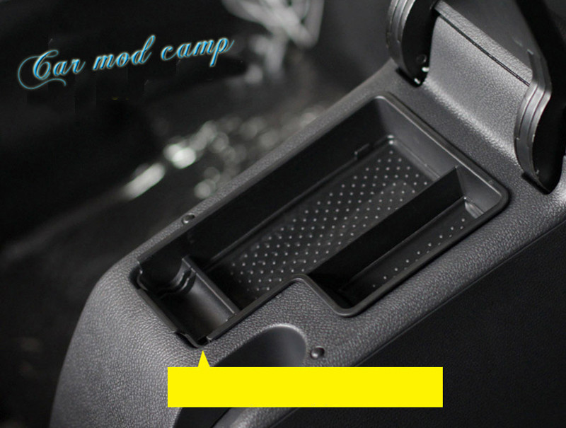Left Hand Drive! For Volkswagen Golf Mk6 2009 2010 2011 2012 Inner Central Armrest Storage Box Organizer Case 1pcs Car Styling!