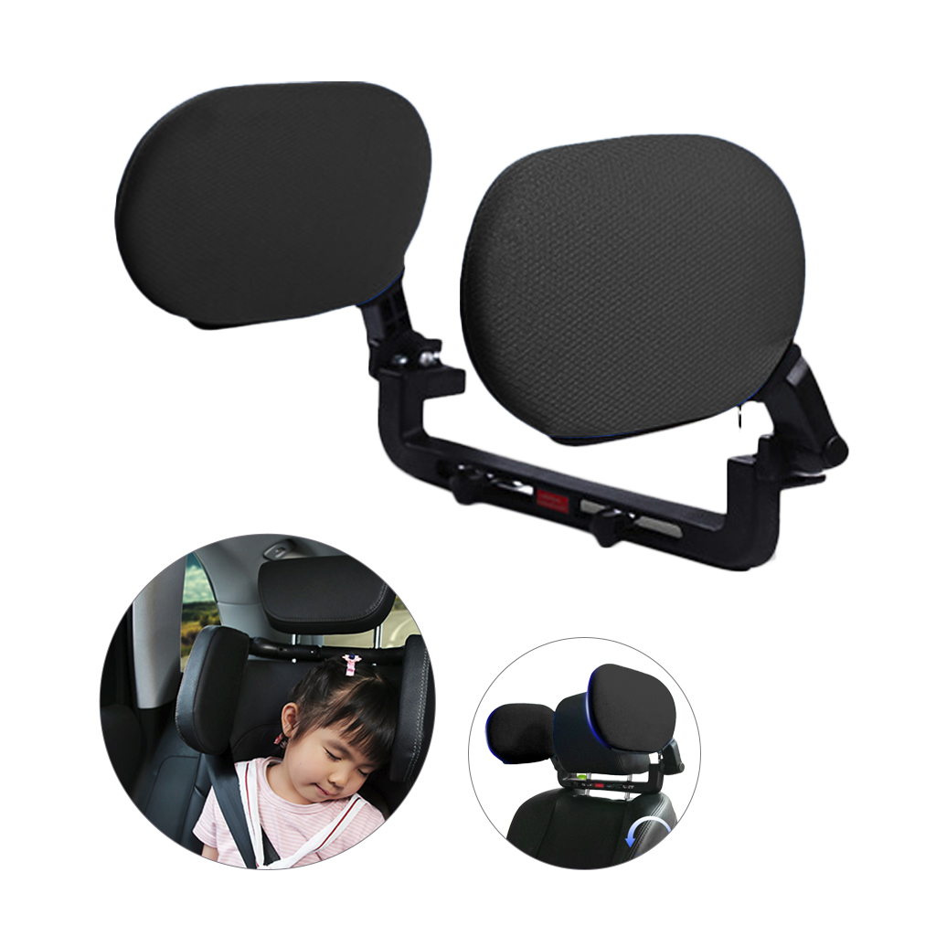 Car Seat Headrest Neck Pillow Neck Support With High Elastic Nylon Retractable Support On Both Sides Car Seat For Adult Children