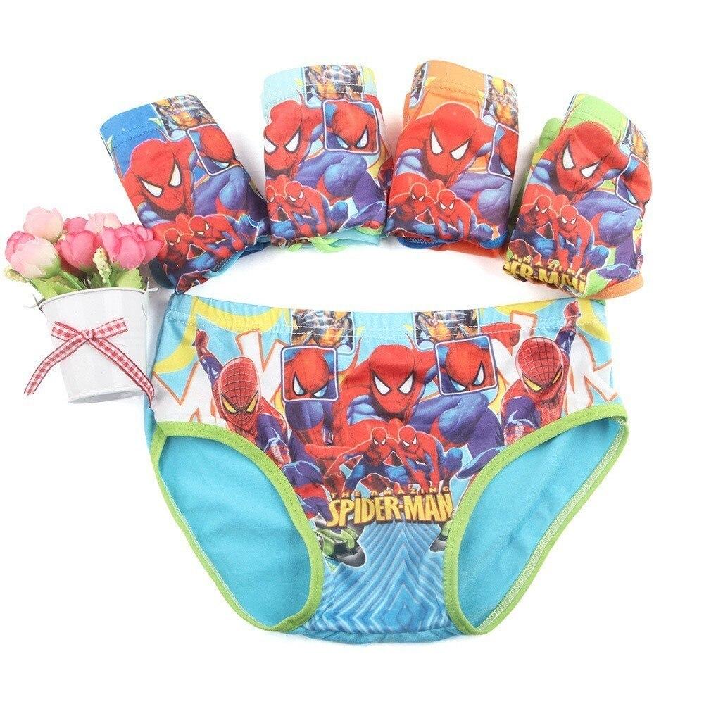 Writing Cartoon Underwear Spider Kw Leopard Batman Baby