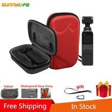 SUNNYLIFE Promotion PU Velvet Organizer Mini Bag Handbag Storage Carrying Case for DJI OSMO Pocket Gimbal Camera Black Red все цены