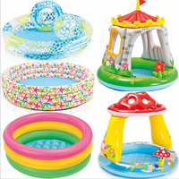 Inflatable Playpen Tent For Baby Kids PVC Dry Ocean Ball Pool Toys Swimming Foldable Indoor Soft Pit As Children Water Play Gift