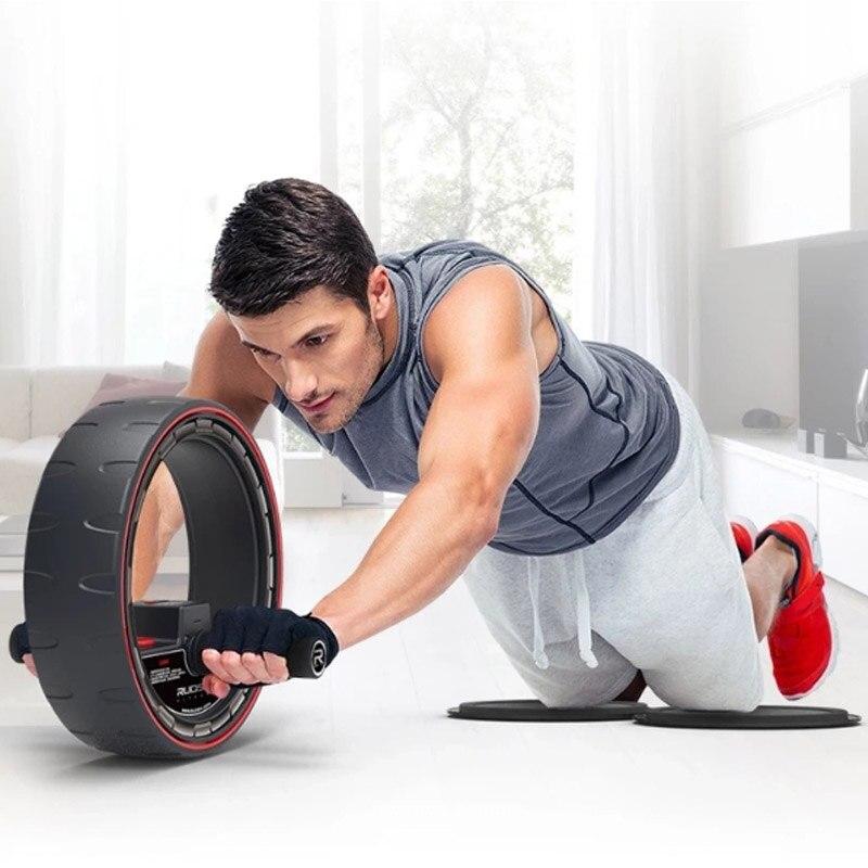 JUFIT Haute Qualité Nouveau Design Sport AB Puissance Abdominale Fitness Exercice AB Rouleau De Roue de Remise En Forme Gymnase Équipement Rouleau