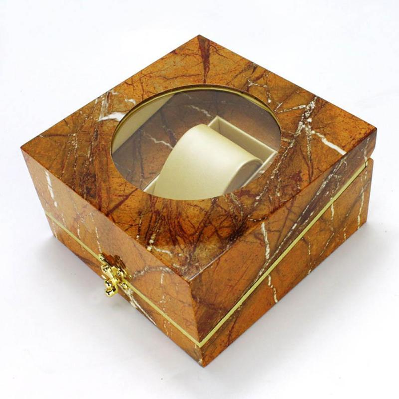 Marble pattern Wooden Watch Box Fashion Bracelet Bangle Jewelry Display Collection Storage Organizer Case Gift Box Caixa Para
