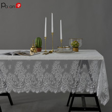 American Country Table Cloth Full Lace Rectangular Cover Christmas Wedding Crochet Tablecloth