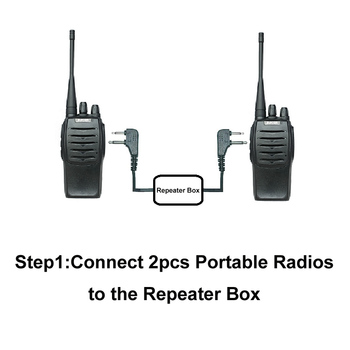 Walkie Talkie Two Way Relay Box Repeater Box K Plug For KENWOOD BAOFENG  WOUXUN Radios To Expand The Talking Distance